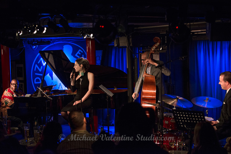 Chiara Pancaldi with Cyrus Chestnut at the PizzaExpress Jazz Clu
